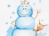 Открытка - Снеговик