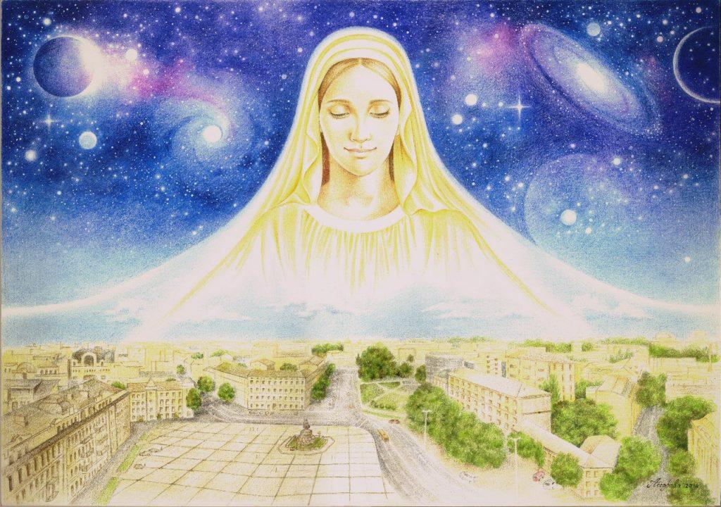 Мария. Покров. Иллюстрация Марии Ассоровой